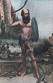 Australien - Portr�tt av Ursprungsbefolkning med  Bumerang