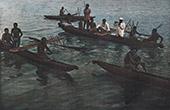 Papua-Neuguinea - Pirogi von Indigen Völker