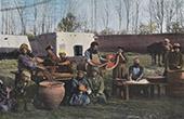 Factory in Bukhara - Boyauderie - Central Asia - Uzbekistan (Tartary)