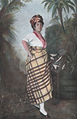 Martinique - Antilles - French overseas department - Quadroon woman - Mestiz - Traditional Costume