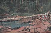 Französisch-Guayana -  französisch Übersee-Departement - Quarz Bergbau - Saint-Elie - Schluss - Rigole