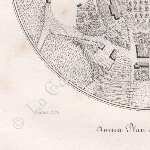Gravures anciennes ancien plan de verneuil en for Plan de moulins