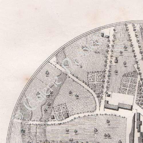 Gravures anciennes lithographie de ancien plan de for Plan de moulins