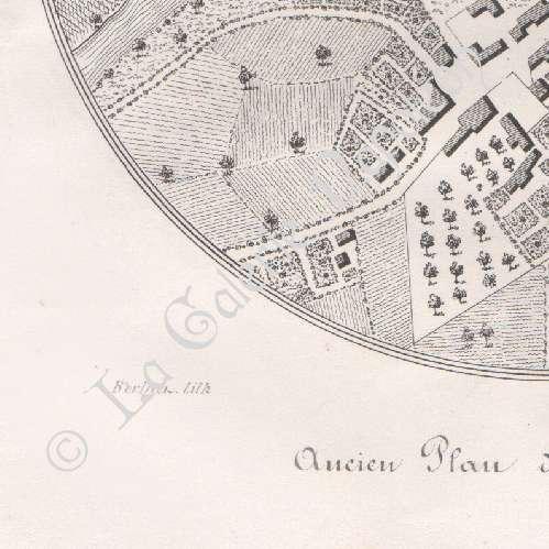 Gravures anciennes ancien plan de lapalisse moulins for Plan de moulins
