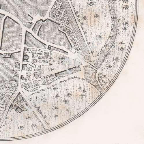 Gravures anciennes ancien plan de souvigny moulins for Plan de moulins