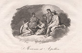 Mythologie - Mercurius und Apollo