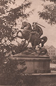 View of Zagreb - Monument - Equestrian Statue of St. George and the Dragon (Croatia)