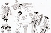Mythology - Toilet of Venus - Charites - Cupid