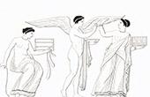 Mythology - Eros and two Women