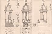 Arkitektur - Begravnings Monument - Passy Kyrkog�rd - Paris - Ritning (Defrasse - Capellaro)