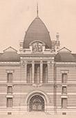 Stich von Architektur - Museum d'Histoire Naturelle - Paris (Dutert)