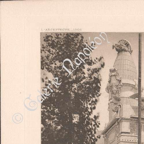Gravures anciennes gravure de architecture exposition coloniale de marsei - Petit pavillon marseille ...