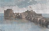 Vista de Sid�n - Sa�da - Castillo del Mar de Sid�n - Puente (L�bano)