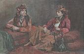 Muslimische Frauen in Sidon - Sa�da (Libanon)