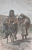 Stich von Hirte und Frau von Silo - Samarien (Israel)