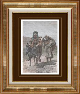 Hirte und Frau von Silo - Samarien (Israel)