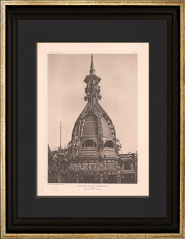 Architektur - La Samaritaine - Kuppel - Warenhaus in Paris (Frantz Jourdain)