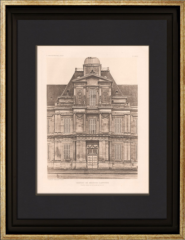 Antique prints prints of maisons laffitte for Architecte maisons laffitte