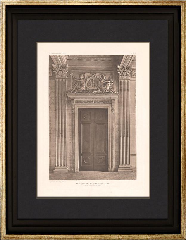 Antique prints prints of columns for Architecte maisons laffitte