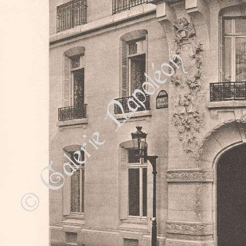 gravures anciennes architecture maison de rapport boulevard raspail paris chifflot. Black Bedroom Furniture Sets. Home Design Ideas