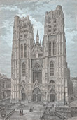 St. Michael and St. Gudula Cathedral in Brussels (Belgium)