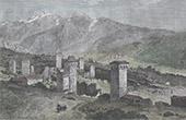 Türme in Uschguli - Swanetien (Georgien)