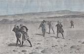 Karawane bei Tedscherri - Sahara - Region Tibesti (Tschad)