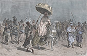 Cheik Omar on Horse and his Escort - Bornu (Chad)