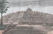 Tempel av Boeroe-Boedor i Java (Indonesien)