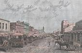 View of Melbourne - Swanston Street - Victoria (Australia)