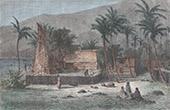 Vy över Vaitahu - Tahuata - Marquesasöarna (Franska Polynesien)
