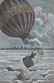 Balloon - Death of La Mountain at Iona in 1875 (United States of America)