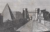 Vue de Rome - Porte Saint-Paul - Porta San Paolo