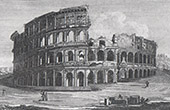 View of Rome - Colosseum - Roman Coliseum - Flavian Amphitheater
