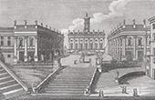 View of Rome - Piazza del Campidoglio - Palazzo del Museo - Palazzo del Senatore