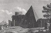 Vue de Rome - Pyramide de Caius Cestius