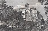 View of the Countryside of Rome - St. Scholastica's Abbey - Subiaco - Lazio