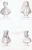Busts - Charles of Artois (1394-1472) - H�l�ne de Melun (+1473) - Marie of Anjou (1404-1463) - Charles VII of France (1403-1461)