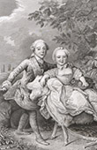Portraits - Charles X of France (1757-1836) and his sister Marie Clotilde of France (1759-1802)