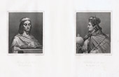 Portraits of Theuderic II (587-613) and Childebert II (570-596)