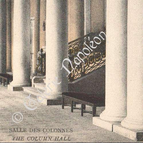 stampe antiche castello di compi gne sala delle colonne fotocromia 1890. Black Bedroom Furniture Sets. Home Design Ideas