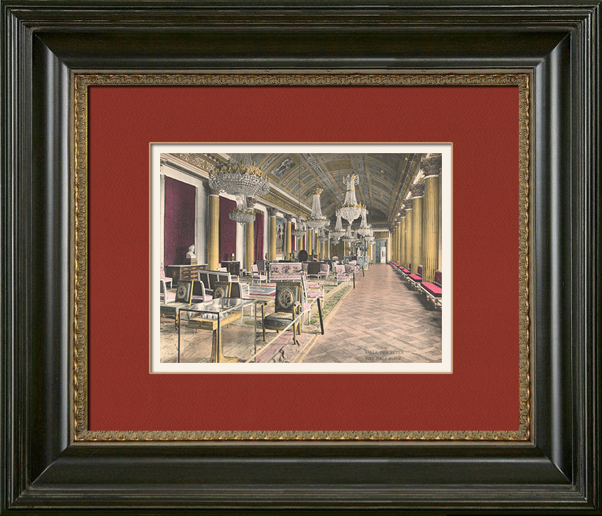 Antique Prints & Drawings | Castle of Compiègne - The Ball-Room | Photochrom print | 1890