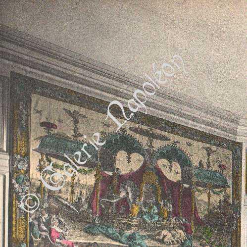 stampe antiche castello di compi gne salon de musique fotocromia 1890. Black Bedroom Furniture Sets. Home Design Ideas