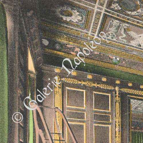 grabados antiguos castillo de compi gne oficina de napole n fotocromo grabado 1890. Black Bedroom Furniture Sets. Home Design Ideas