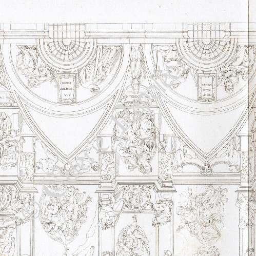 Gravures anciennes chapelle sixtine renaissance italienne plafond michel ange gravure - Plafond chapelle sixtine michel ange ...