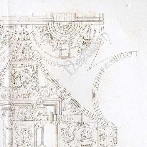 Gravures anciennes chapelle sixtine renaissance italienne plafond michel ange gravure - Michel ange chapelle sixtine plafond ...