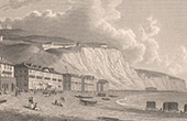View of Dover - Cliff - Beach - Kent (England)