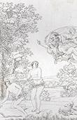 Engel - Verbannung von  aus dem Paradies - Ungehorsam (Domenico Zampieri - Domenichino)