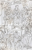 Maest� - La Virgen con el Ni�o Jes�s, Juan el Bautista y San Petronio (Domenico Zampieri - Domenichino)