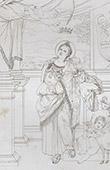 Engel - Heilige Agnes (Domenico Zampieri - Domenichino)